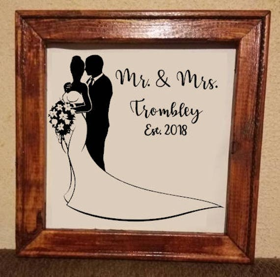 160b122271936 Mr and Mrs Wedding reverse canvas, personalized reverse canvas,  Personalized Wedding Gift, Custom reverse canvas
