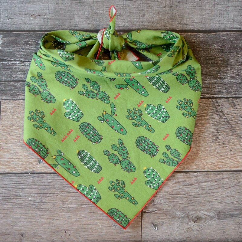 362a842fc Christmas Dog Bandana, Christmas Bandana, Christmas Cactus ...