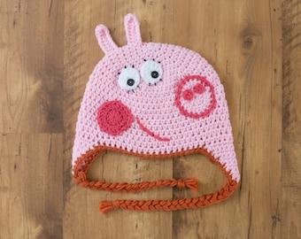 c0c3e3755b0 Daddy Pig Crochet Hat Peppa Pig Crochet Hat Mummy Pig