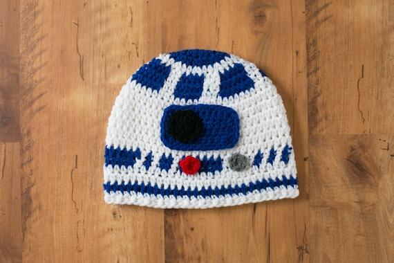 R2d2 Hat R2d2 Crochet Hat Star Wars R2d2 R2d2 R2d2 Beanie Etsy