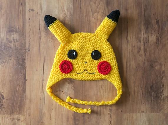 Pikachu Hat Crochet Pikachu Hat Pikachu Crochet Hat Pikachu Etsy
