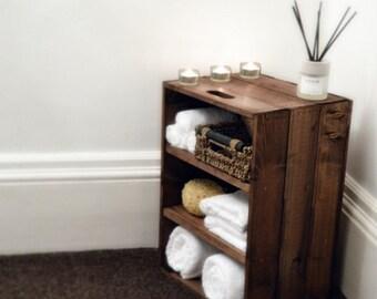 Rustic, Wooden Bathroom / Bedroom Storage Cabinet