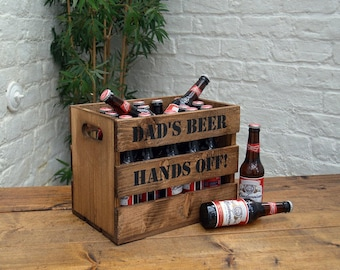 Personalised Wooden Beer Crate