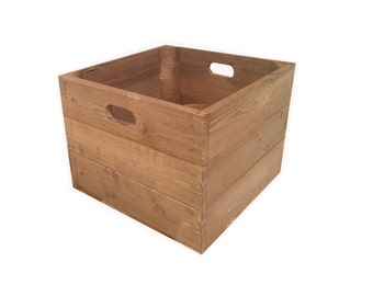 Rustic, Square Wooden Apple Crate Box