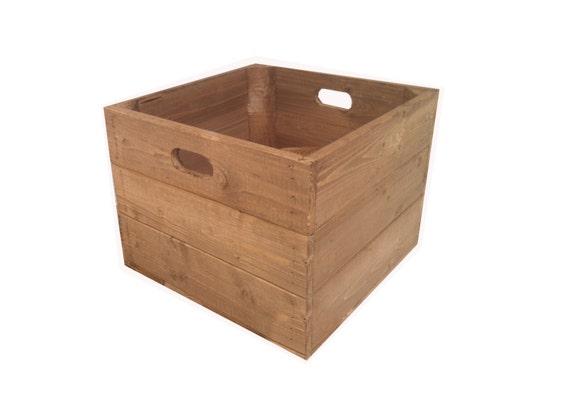 Caisse Pomme boîte de caisse pomme rustique en bois carré | etsy