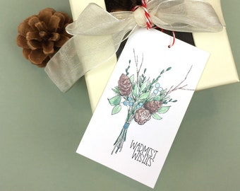 Warmest Wishes Holiday Gift Tag Kit