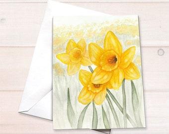 Daffodils Notecard