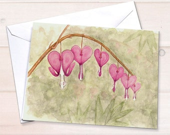 Bleeding Hearts Floral Stationery