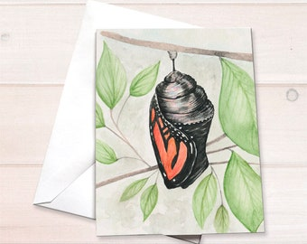 Monarch chrysalis Notecard