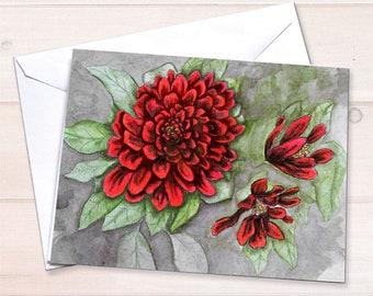 Chrysanthemums Notecard