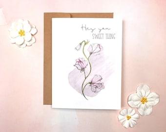 Love - Sweetpea Card