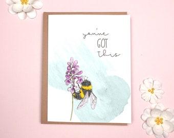 Encouragement - Bumblebee Card