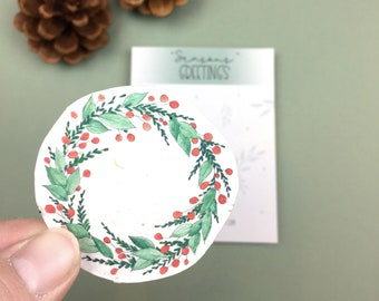 Christmas Wreath Seed Paper Gift