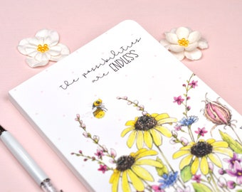 Positivity Journal Wildflower Garden Design