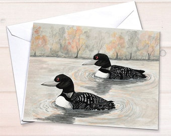 Loon Anniversary Note Card