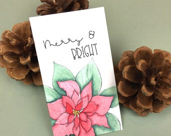Merry and Bright Christmas Mini Cards