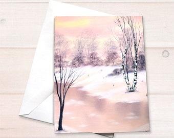 Pink River Landscape Notecard