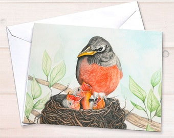 Bird Nest Notecard