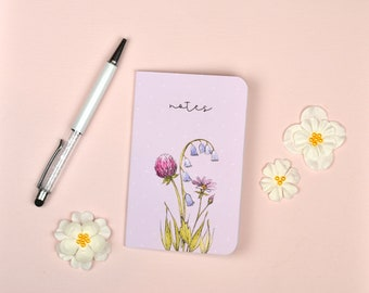 Purple Floral Pocket Notebook