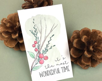 Most Wonderful Time Christmas Mini Cards