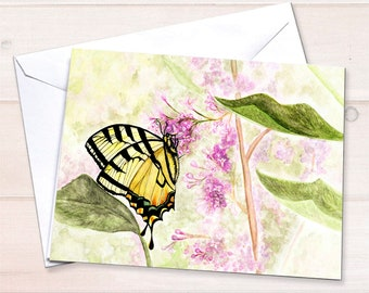 Swallowtail Butterfly Blank Note Cards