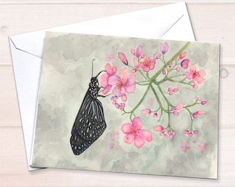 Black Butterfly Notecards