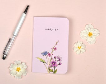 Pink Floral Pocket Notebook