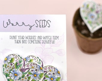 Worry Seeds Wildflower Seed Hearts