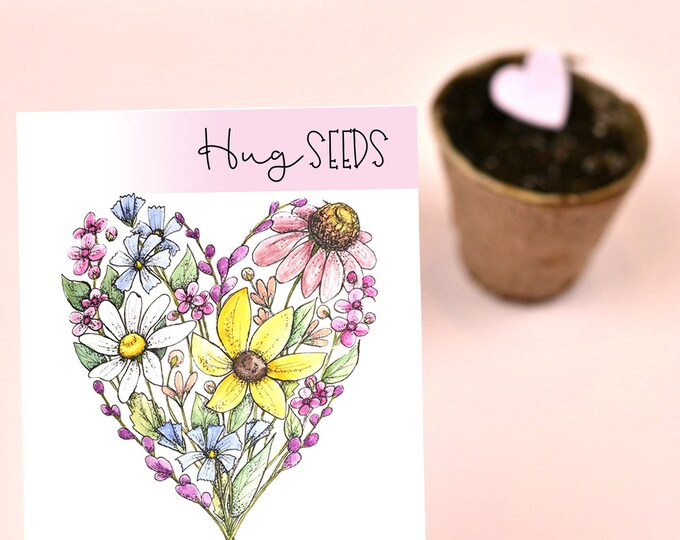 Featured listing image: Virtual Hug Seeds Wildflower Seed Packet