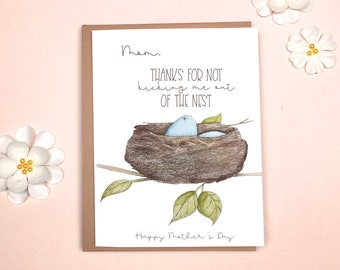Mother's Day - Funny Card Bird's Nest