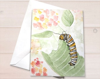 Monarch Caterpillar Notecard