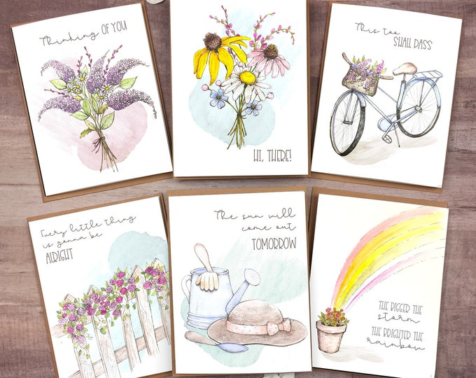 Featured listing image: Social Distancing Greeting Card Set