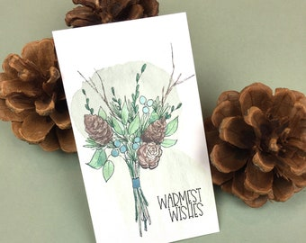 Warmest Wishes Mini Cards