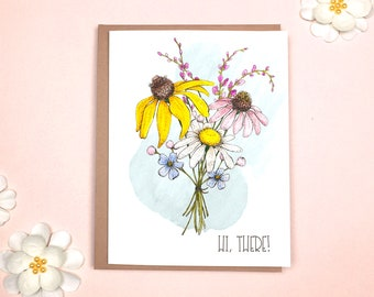 Thinking of You Card - Hi there