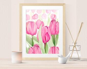 Tulip watercolor