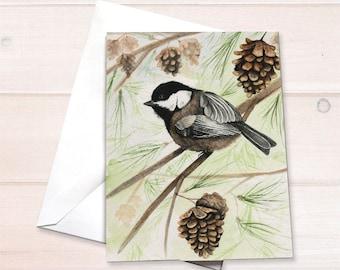 Chickadee Notecard