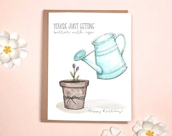 Birthday - Watering Can Card