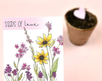 Seeds of Love Wildflower Seed Packet