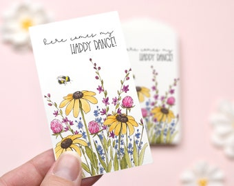 Happy Dance Tiny Thank You Notes