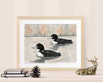 Rustic Loon Painting