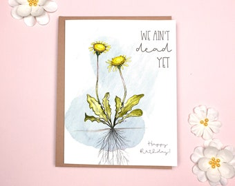 Birthday - Funny Dandelion Card