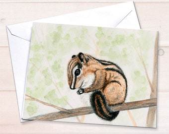 Chipmunk Note Card