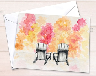 Adirondack Chairs Love Card