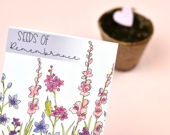 Seeds of Remembrance Wildflower Seed Packet