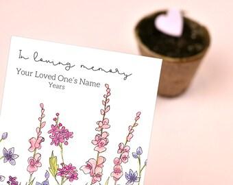 Personalized Memorial Seeds Wildflower Seed Packet