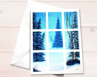 Winter deer Notecard
