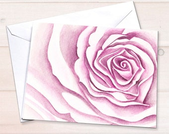 Pink Rose Bridal Cards