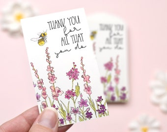 Small Thank You Note Mini Cards