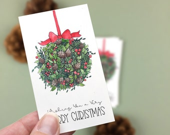Very Merry Christmas Mini Cards