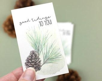 Good Tidings to You Christmas Mini Cards